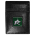 Dallas Stars™ Leather Money Clip/Cardholder Packaged in Gift Box