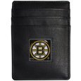 Boston Bruins Leather Money Clip/Card holder - This Officially licensed Boston Bruins Money Clip/Card Holder won't make you choose between paper or plastic because they stow both easily. Features a sculpted and enameled Boston Bruins emblem on the front of the Leather Money Clip/Card holder. The Boston Bruins Leather Money Clip/Card holder is packaged in a gift box. Thank you for visiting CrazedOutSports