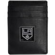 Los Angeles Kings Leather Money Clip/Card holder - Officially licensed Los Angeles Kings Money Clip/Card Holder won't make you choose between paper or plastic because they stow both easily. Features our sculpted and enameled Los Angeles Kings emblem on the front of the Leather Money Clip/Card holder. This Los Angeles Kings Leather Money Clip/Card holder is packaged in a gift box.