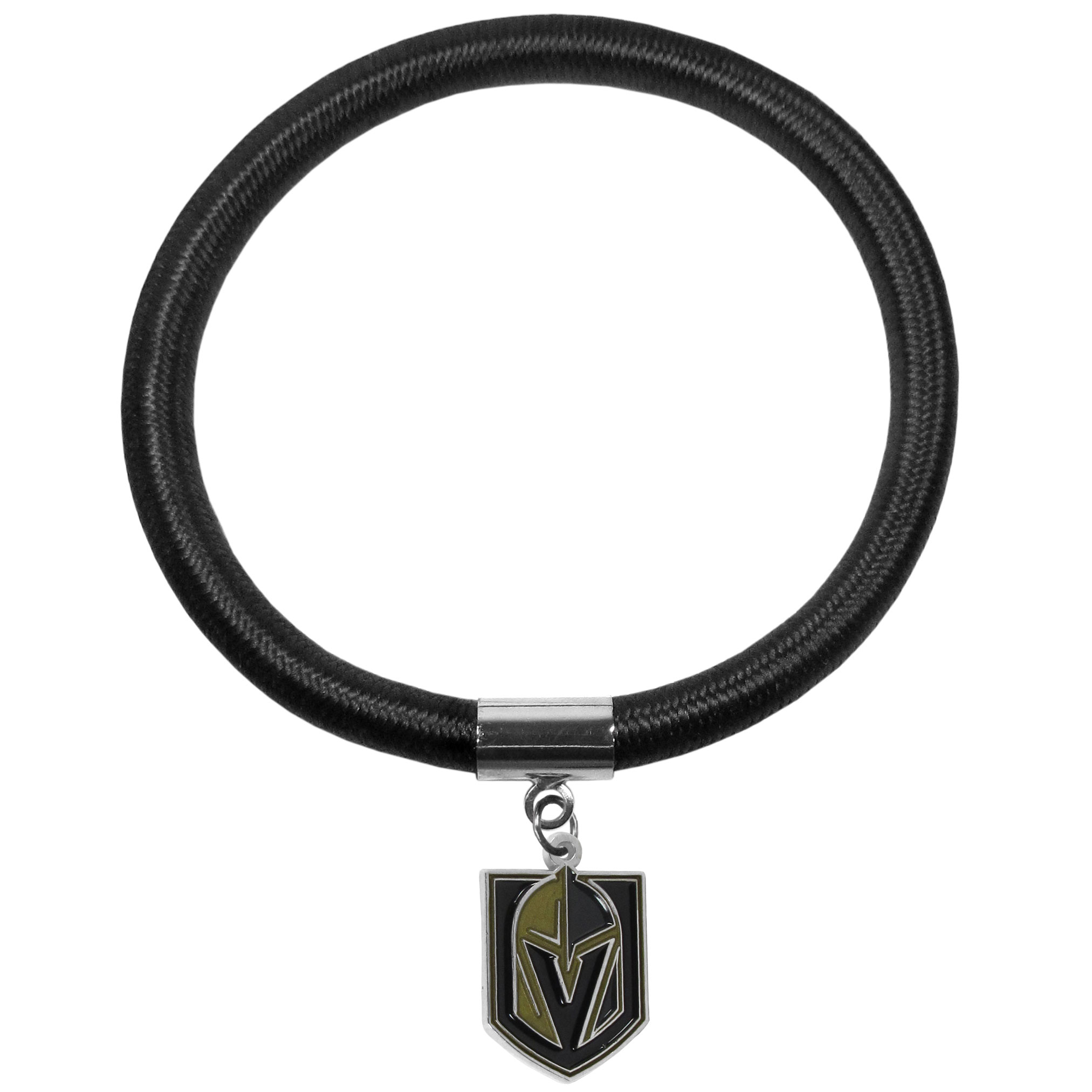 Vegas Golden Knights® Color Cord Bracelet - Our Vegas Golden Knights® color cord bracelet has an 8 inch, stretchy cord in the team's primary color. The cute cord bracelet features a metal team charm with expertly enameled team colors. The bracelet is fun and eye-catching making it a perfect game day accessory while being stylish enough for everyday wear.