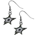 Dallas Stars  Chrome Dangle Earrings - Our officially licensed chrome dangle earrings have fully cast Dallas Stars  charms with exceptional detail and a hand enameled finish. The earrings have a high polish nickel free chrome finish and hypoallergenic fishhook posts.