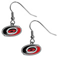 Carolina Hurricanes  Chrome Dangle Earrings - Our officially licensed chrome dangle earrings have fully cast Carolina Hurricanes  charms with exceptional detail and a hand enameled finish. The earrings have a high polish nickel free chrome finish and hypoallergenic fishhook posts. Thank you for visiting CrazedOutSports