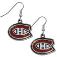 Montreal Canadiens  Chrome Dangle Earrings - Our NHL dangle earrings are fully cast with exceptional detail and a hand enameled finish. The earrings have a high polish chrome finish and hypoallergenic fishhook posts.