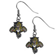 Florida Panthers  Chrome Dangle Earrings - Our officially licensed chrome dangle earrings have fully cast Florida Panthers  charms with exceptional detail and a hand enameled finish. The earrings have a high polish nickel free chrome finish and hypoallergenic fishhook posts.