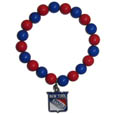 New York Rangers Fan Bead Bracelet - These bright New York Rangers Fan Bead Bracelet stretch to fit and feature a full metal New York Rangers charm with enameled New York Rangers details. Perfect, eye catching game day accessory. Thank you for visiting CrazedOutSports