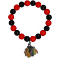 Chicago Blackhawks Fan Bead Bracelet - These bright Chicago Blackhawks Fan Bead Bracelet has stretch to fit and feature a full metal Chicago Blackhawks charm with enameled Chicago Blackhawks details. Perfect, eye catching Chicago Blackhawks game day accessory. Thank you for visiting CrazedOutSports