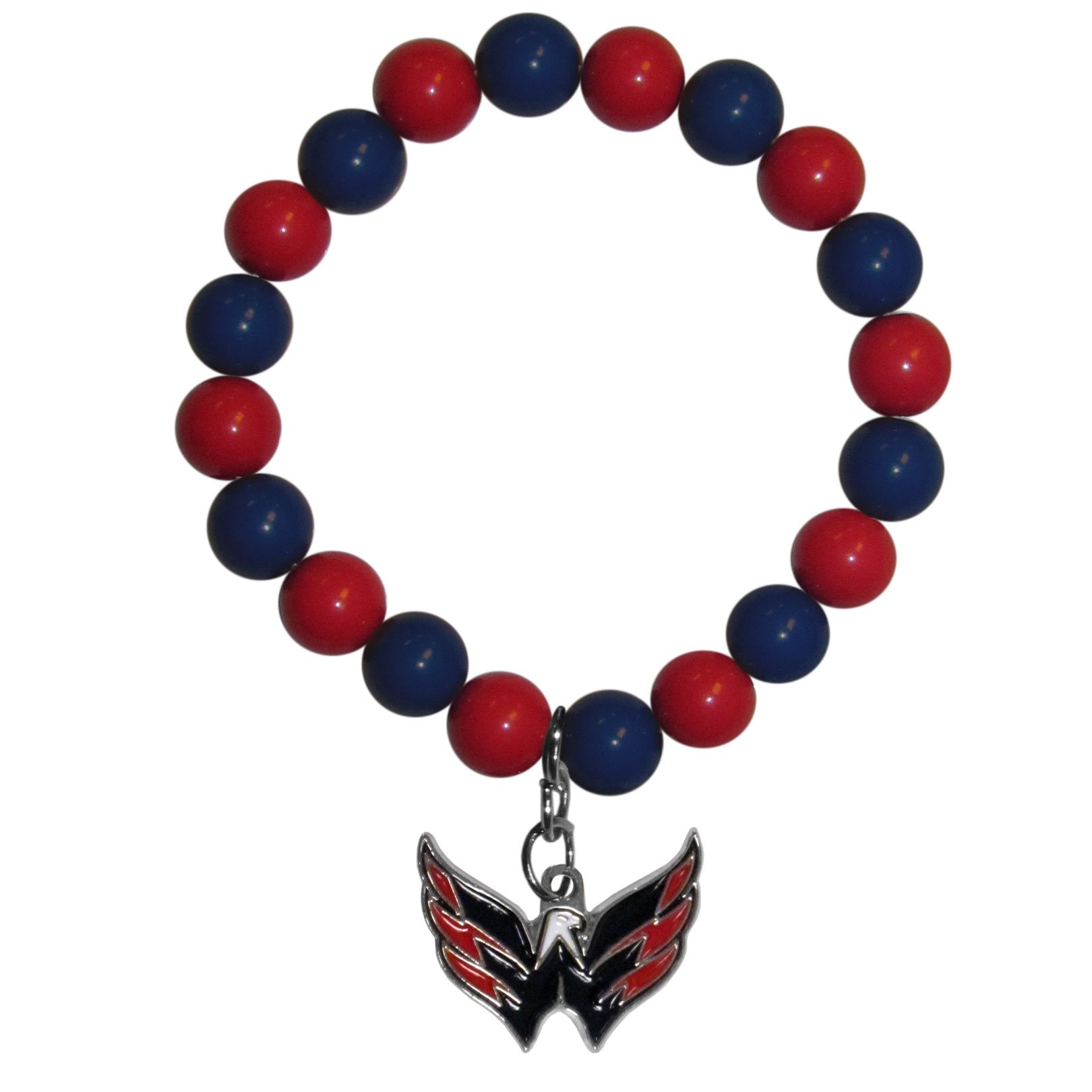 Washington Capitals® Fan Bead Bracelet - Flash your Washington Capitals® spirit with this bright stretch bracelet. This new bracelet features multicolored team beads on stretch cord with a nickel-free enameled chrome team charm. This bracelet adds the perfect pop of color to your game day accessories.