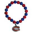 Montreal Canadiens  Fan Bead Bracelet - Flash your Montreal Canadiens spirit with this bright stretch Montreal Canadiens Fan Bead Bracelet. This new Montreal Canadiens Fan Bead Bracelet features multicolored team beads on stretch cord with a nickel-free enameled chrome team charm. This Montreal Canadiens Fan Bead Bracelet adds the perfect pop of color to your game day accessories.