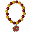 Calgary Flames  Fan Bead Bracelet - Flash your Calgary Flames spirit with this bright stretch Calgary Flames Fan Bead Bracelet. This new Calgary Flames Fan Bead Bracelet features multicolored Calgary Flames beads on stretch cord with a nickel-free enameled chrome Calgary Flames charm. This Calgary Flames Fan Bead Bracelet adds the perfect pop of color to your game day accessories. Thank you for visiting CrazedOutSports