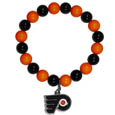 Philadelphia Flyers Fan Bead Bracelet - These bright Philadelphia Flyers Fan Bead Bracelet stretch to fit and feature a full metal Philadelphia Flyers charm with enameled Philadelphia Flyers details. Perfect, eye catching game day accessory.