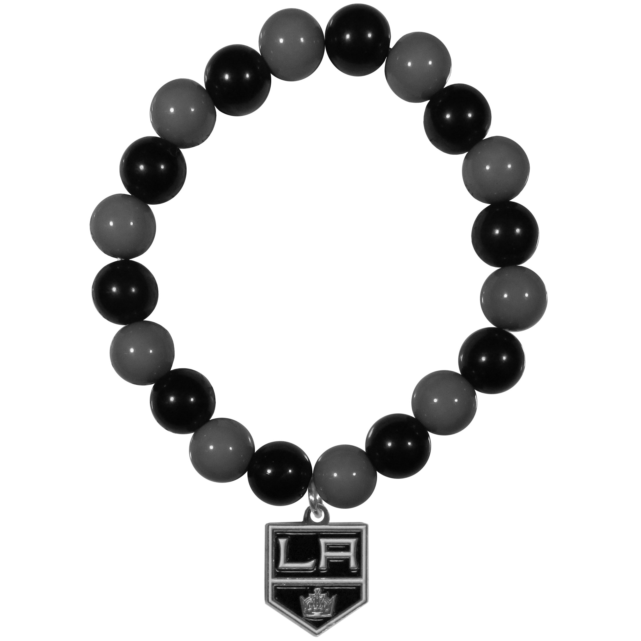 Los Angeles Kings® Fan Bead Bracelet - Flash your Los Angeles Kings® spirit with this bright stretch bracelet. This new bracelet features multicolored team beads on stretch cord with a nickel-free enameled chrome team charm. This bracelet adds the perfect pop of color to your game day accessories.