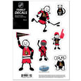 "Ottawa Senators Small Family Decal Set - Show off your Ottawa Senators pride with our Ottawa Senators family automotive decals. The Ottawa Senators Small Family Decal Set includes 6 individual family themed decals that each feature the Ottawa Senators logo. The 5""  x 7"" Ottawa Senators Small Family Decal Set is made of outdoor rated, repositionable vinyl for durability and easy application.  Thank you for visiting CrazedOutSports"