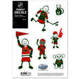 "Minnesota Wild Small Family Decal Set - Show off your Minnesota Wild pride with our Minnesota Wild family automotive decals. The Minnesota Wild Small Family Decal Set includes 6 individual family themed decals that each feature the Minnesota Wild logo. The 5"" x 7"" Minnesota Wild Small Family Decal Set is made of outdoor rated, repositionable vinyl for durability and easy application.  Thank you for visiting CrazedOutSports"