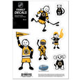 "Boston Bruins Small Family Decal Set - Show off your Boston Bruins pride with our Boston Bruins family automotive decals. The Boston Bruins Small Family Decal Set includes 6 individual family themed decals that each feature the Boston Bruins logo. The 5"" x 7"" Boston Bruins Small Family Decal Set is made of outdoor rated, repositionable vinyl for durability and easy application. Thank you for visiting CrazedOutSports"