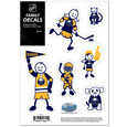 "Buffalo Sabres Small Family Decal Set - Show off your Buffalo Sabres pride with our Buffalo Sabres family automotive decals. The Buffalo Sabres Small Family Decal Set includes 6 individual family themed decals that each feature the Buffalo Sabres logo. The 5""  x 7"" Buffalo Sabres Small Family Decal Set is made of outdoor rated, repositionable vinyl for durability and easy application."