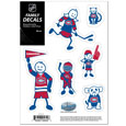 """Montreal Canadiens Small Family Decal Set - Show off your Montreal Canadiens pride with our Montreal Canadiens family automotive decals. The Montreal Canadiens Small Family Decal Set includes 6 individual family themed decals that each feature the Montreal Canadiens logo. The 5"""" x 7"""" Montreal Canadiens Small Family Decal Set is made of outdoor rated, repositionable vinyl for durability and easy application.  Thank you for visiting CrazedOutSports"""
