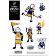 "Nashville Predators Small Family Decal Set - Show off your Nashville Predators pride with our Nashville Predators family automotive decals. The Nashville Predators Small Family Decal Set includes 6 individual family themed decals that each feature the Nashville Predators logo. The 5"" x 7"" Nashville Predators Small Family Decal Set is made of outdoor rated, repositionable vinyl for durability and easy application."