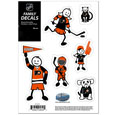 "Philadelphia Flyers Small Family Decal Set - Show off your Philadelphia Flyers pride with our Philadelphia Flyers family automotive decals. The Philadelphia Flyers Small Family Decal Set includes 6 individual family themed decals that each feature the Philadelphia Flyers logo. The 5"" x 7"" Philadelphia Flyers Small Family Decal Set is made of outdoor rated, repositionable vinyl for durability and easy application.  Thank you for visiting CrazedOutSports"
