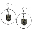 Vegas Golden Knights® 2 Inch Hoop Earrings