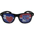 New York Rangers  I Heart Game Day Shades - Our officially licensed I Heart game day shades are the perfect accessory for the devoted New York Rangers  fan! The sunglasses have durable polycarbonate frames with flex hinges for comfort and damage resistance. The lenses feature brightly colored team clings that are perforated for visibility.