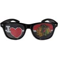 Chicago Blackhawks  I Heart Game Day Shades - Our officially licensed I Heart game day shades are the perfect accessory for the devoted Chicago Blackhawks  fan! The sunglasses have durable polycarbonate frames with flex hinges for comfort and damage resistance. The lenses feature brightly colored team clings that are perforated for visibility.