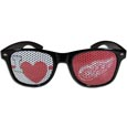 Detroit Red Wings  I Heart Game Day Shades - Our officially licensed I Heart game day shades are the perfect accessory for the devoted Detroit Red Wings  fan! The sunglasses have durable polycarbonate frames with flex hinges for comfort and damage resistance. The lenses feature brightly colored team clings that are perforated for visibility.