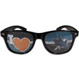 San Jose Sharks  I Heart Game Day Shades - Our officially licensed I Heart game day shades are the perfect accessory for the devoted San Jose Sharks  fan! The sunglasses have durable polycarbonate frames with flex hinges for comfort and damage resistance. The lenses feature brightly colored team clings that are perforated for visibility.
