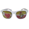 Ottawa Senators  I Heart Game Day Shades - Our officially licensed I Heart game day shades are the perfect accessory for the devoted Ottawa Senators  fan! The sunglasses have durable polycarbonate frames with flex hinges for comfort and damage resistance. The lenses feature brightly colored team clings that are perforated for visibility.