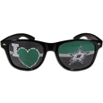 Dallas Stars  I Heart Game Day Shades - Our officially licensed I Heart game day shades are the perfect accessory for the devoted Dallas Stars  fan! The sunglasses have durable polycarbonate frames with flex hinges for comfort and damage resistance. The lenses feature brightly colored team clings that are perforated for visibility.