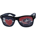 Columbus Blue Jackets  I Heart Game Day Shades - Our officially licensed I Heart game day shades are the perfect accessory for the devoted Columbus Blue Jackets  fan! The sunglasses have durable polycarbonate frames with flex hinges for comfort and damage resistance. The lenses feature brightly colored team clings that are perforated for visibility.