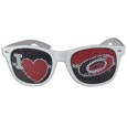 Carolina Hurricanes  I Heart Game Day Shades - Our officially licensed I Heart game day shades are the perfect accessory for the devoted Carolina Hurricanes  fan! The sunglasses have durable polycarbonate frames with flex hinges for comfort and damage resistance. The lenses feature brightly colored team clings that are perforated for visibility.