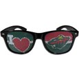 Minnesota Wild  I Heart Game Day Shades - Our officially licensed I Heart game day shades are the perfect accessory for the devoted Minnesota Wild  fan! The sunglasses have durable polycarbonate frames with flex hinges for comfort and damage resistance. The lenses feature brightly colored team clings that are perforated for visibility.