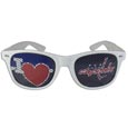 Washington Capitals  I Heart Game Day Shades - Our officially licensed I Heart game day shades are the perfect accessory for the devoted Washington Capitals  fan! The sunglasses have durable polycarbonate frames with flex hinges for comfort and damage resistance. The lenses feature brightly colored team clings that are perforated for visibility.