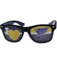St. Louis Blues  I Heart Game Day Shades - Our officially licensed I Heart game day shades are the perfect accessory for the devoted St. Louis Blues  fan! The sunglasses have durable polycarbonate frames with flex hinges for comfort and damage resistance. The lenses feature brightly colored team clings that are perforated for visibility.
