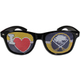 Buffalo Sabres  I Heart Game Day Shades - Our officially licensed I Heart game day shades are the perfect accessory for the devoted Buffalo Sabres  fan! The sunglasses have durable polycarbonate frames with flex hinges for comfort and damage resistance. The lenses feature brightly colored team clings that are perforated for visibility.