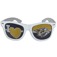 Nashville Predators  I Heart Game Day Shades - Our officially licensed I Heart game day shades are the perfect accessory for the devoted Nashville Predators  fan! The sunglasses have durable polycarbonate frames with flex hinges for comfort and damage resistance. The lenses feature brightly colored team clings that are perforated for visibility.