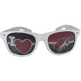 Arizona Coyotes  I Heart Game Day Shades - Our officially licensed I Heart game day shades are the perfect accessory for the devoted Arizona Coyotes  fan! The sunglasses have durable polycarbonate frames with flex hinges for comfort and damage resistance. The lenses feature brightly colored team clings that are perforated for visibility.