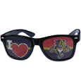 Florida Panthers  I Heart Game Day Shades - Our officially licensed I Heart game day shades are the perfect accessory for the devoted Florida Panthers  fan! The sunglasses have durable polycarbonate frames with flex hinges for comfort and damage resistance. The lenses feature brightly colored team clings that are perforated for visibility.