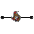 Ottawa Senators  Industrial Slider Barbell -  Show off your love of the game with this officially licensed.Ottawa Senators  industrial slider barbell. The 40mm barbell features an expertly designed team slider charm