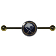Buffalo Sabres  Industrial Slider Barbell -  Show off your love of the game with this officially licensed.Buffalo Sabres  industrial slider barbell. The 40mm barbell features an expertly designed team slider charm