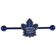 Toronto Maple Leafs  Industrial Slider Barbell -  Show off your love of the game with this officially licensed.Toronto Maple Leafs  industrial slider barbell. The 40mm barbell features an expertly designed team slider charm