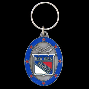 NHL Key Ring - Rangers - Officially licensed NHL key ring featuring the New York Rangers.
