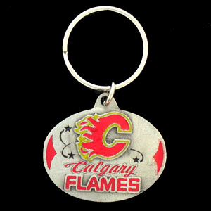 NHL Key Ring - Calgary Flames - Officially licensed NHL key ring featuring the  Calgary Flames. Thank you for visiting CrazedOutSports
