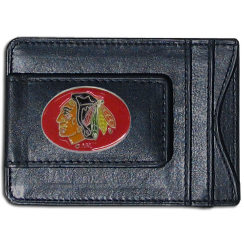 Chicago Blackhawks Leather Cash & Cardholder - Officially licensed NHL Chicago Blackhawks fine leather cash & cardholder is the perfect way to organize both your cash and cards while showing off your Chicago Blackhawks spirit! Thank you for visiting CrazedOutSports