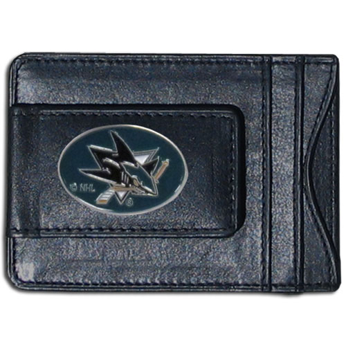 San Jose Sharks Leather Cash and Cardholder - Officially licensed NHL San Jose Sharks fine leather cash & cardholder is the perfect way to organize both your cash and cards while showing off your San Jose Sharks spirit!