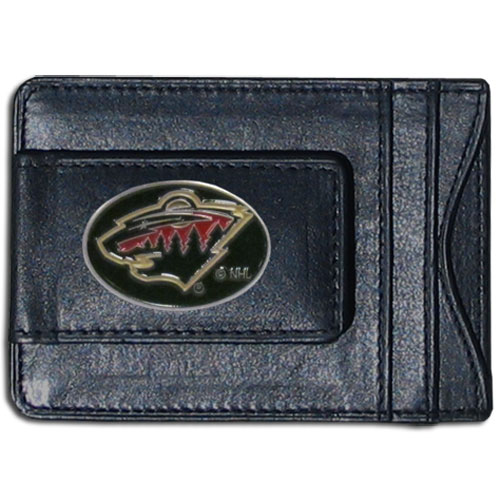 Minnesota Wild Leather Cash & Cardholder - Officially licensed NHL Minnesota Wild fine leather cash & cardholder is the perfect way to organize both your cash and cards while showing off your Minnesota Wild spirit! Thank you for visiting CrazedOutSports