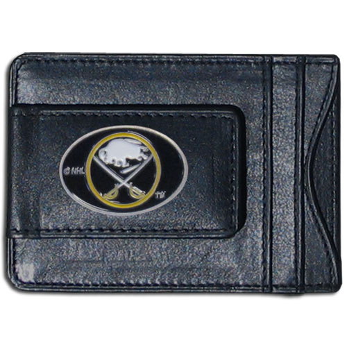 Buffalo Sabres Leather Cash & Cardholder - Officially licensed NHL Buffalo Sabres fine leather cash & cardholder is the perfect way to organize both your cash and cards while showing off your Buffalo Sabres spirit! Thank you for visiting CrazedOutSports