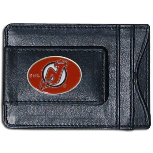 New Jersey Devils Leather Cash and Cardholder - Officially licensed NHL New Jersey Devils fine leather cash & cardholder is the perfect way to organize both your cash and cards while showing off your New Jersey Devils spirit!