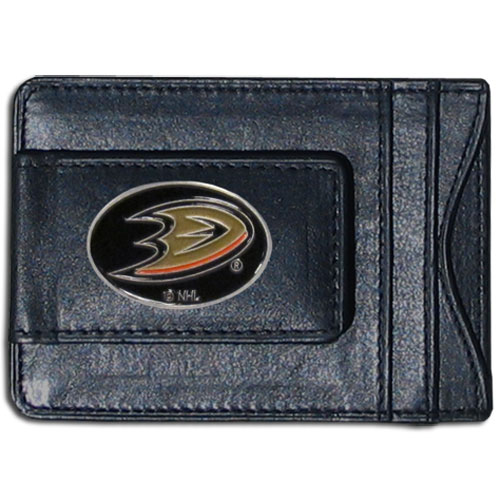 Anaheim Ducks Leather Cash & Cardholder - Officially licensed NHL Anaheim Ducks fine leather cash & cardholder is the perfect way to organize both your cash and cards while showing off your Anaheim Ducks spirit! Thank you for visiting CrazedOutSports