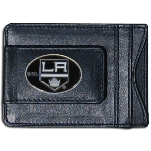 Los Angeles Kings Leather Cash & Cardholder - Officially licensed NHL Los Angeles Kings fine leather cash & cardholder is the perfect way to organize both your cash and cards while showing off your Los Angeles Kings spirit! Thank you for visiting CrazedOutSports